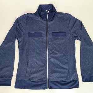 Pebble Beach Dry Luxe Golf Jacket Blue Long Sleeve